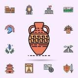 kruka krukmakeri, garnering, grekisk symbol E royaltyfri illustrationer