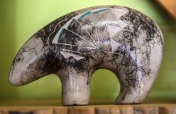krukmakeri för navajo för amerikansk hårhäst indisk infödd arkivbild