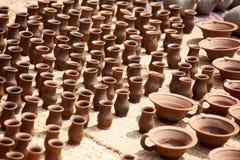 Krukmakeri i Nepal, krukmakeri Arkivfoto