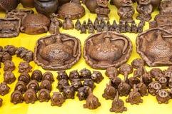 Krukmakeri lergods, clayware, lerkärl, stengods arkivbilder