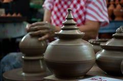 Krukmakerihemslöjd i Thailand Arkivbild