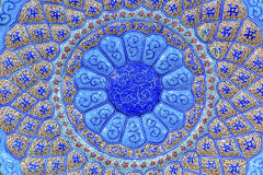 KrukmakeriMadaba för forntida arabiska islamiska designer blå Jordanien arkivfoto