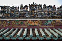Krukmakerivapnet på taket av den kinesiska släkt- korridoren Royaltyfria Bilder