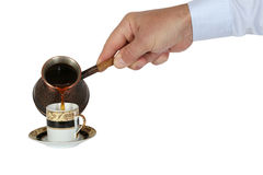 Krukor av kaffe Arkivfoton