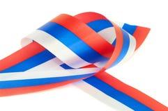 Krul van Russische vlag stock foto's