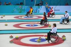 Krulla för rullstol Arkivbild