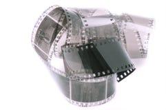 Krullad 35mm filmremsa Royaltyfri Bild