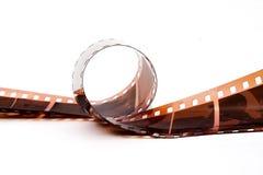 krullad negativ remsa Arkivfoto