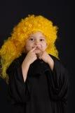 krullad wig Arkivbilder