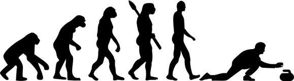 Krullande evolution vektor illustrationer