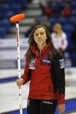 Krullande kvinnor Kanada Rachel Homan Skip Royaltyfria Bilder