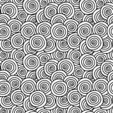 Krullar monokrom sömlös bakgrund vektor illustrationer