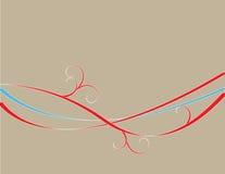 krullar vektorn Royaltyfri Bild