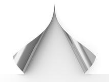 krullat papper stock illustrationer