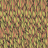 Krullen naadloos patroon Stock Foto