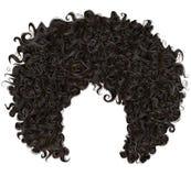 In krullend Afrikaans zwart haar De stijl van de manierschoonheid Royalty-vrije Stock Afbeeldingen