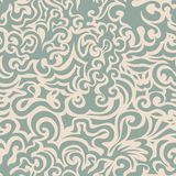 Krullend blauw naadloos patroon Stock Fotografie