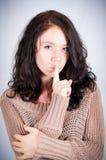 Krullend meisje Stock Foto