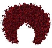 In krullend rood haar Realistische 3d sferisch kapsel Stock Afbeeldingen