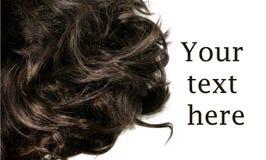 Krullend zwart haar met ruimte voor tekst Royalty-vrije Stock Foto's
