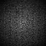 Krullend zwart naadloos patroon Stock Foto