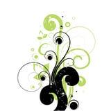 Krullende bloemenachtergrond Vector Illustratie