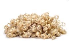 Krullende blonde pruik Royalty-vrije Stock Afbeeldingen