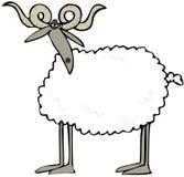 Krullende gehoornde schapen stock illustratie