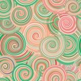 Krullende golven Vector Illustratie
