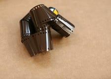 Krullende 35mm film Stock Foto