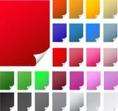Krullende rand kleurrijke realistische documenten stock illustratie