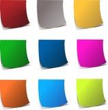 Krullende rand kleurrijke realistische documenten vector illustratie