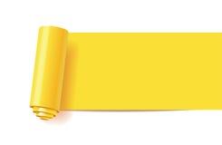 Krullning av gulingpapper royaltyfri illustrationer