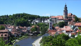 Krumau, Czech Republic stock footage