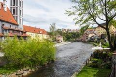Krumau, Tschechien. Ansicht der Stadt Stock Image