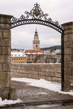 Krumlov城堡,捷克共和国 免版税库存照片