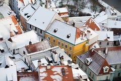 Krumlov镇视图,捷克共和国 免版税库存图片