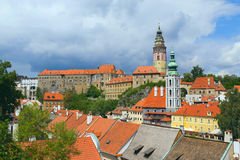 krumlov cesky miasteczko zdjęcie royalty free