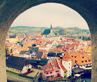 krumlov cesky widok cesky krumlov republiki czech miasta średniowieczny stary widok Fotografia Stock