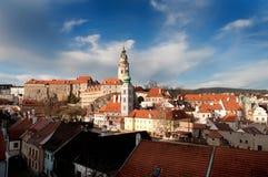 Krumlov, Czech Republic. European cityscape, landmark Stock Photography