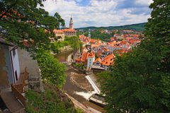 krumlov czeski miasteczko Fotografia Royalty Free