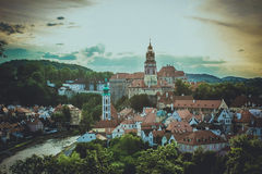 Krumlov in the evening Royalty Free Stock Photo