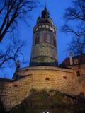 ½ Krumlov na noite - República Checa de ÄŒeskà Fotos de Stock