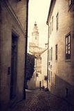 Krumlov. The old town in the South Bohemian region of the Czech Stock Photos