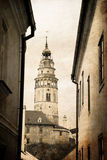 Krumlov. The old town in the South Bohemian region of the Czech Stock Images