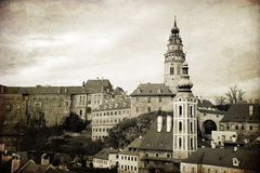 Krumlov. The old town in the South Bohemian region of the Czech Royalty Free Stock Photography