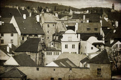 Krumlov. The old town in the South Bohemian region of the Czech Stock Image