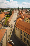 Krumlov ouses near old town square in Prague, Czech Republic, view from above Stock Photo