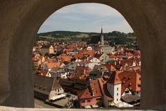 Krumlov panorama Zdjęcia Royalty Free