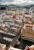 Krumlov town view, Czech republic Royalty Free Stock Photos